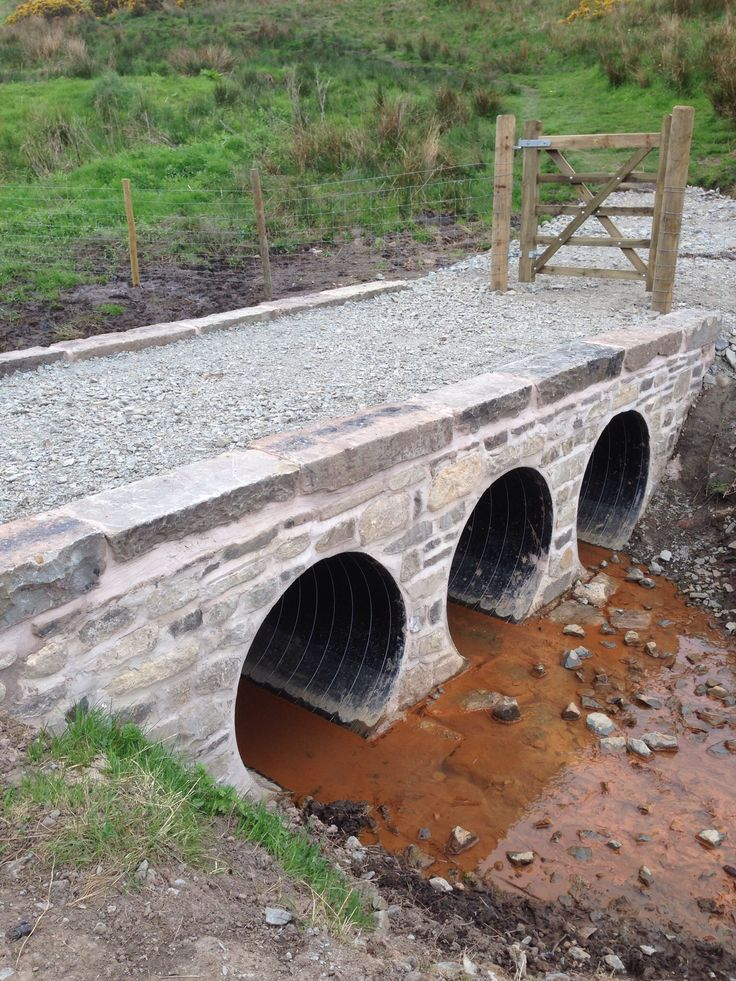Bridge over culvert pipe