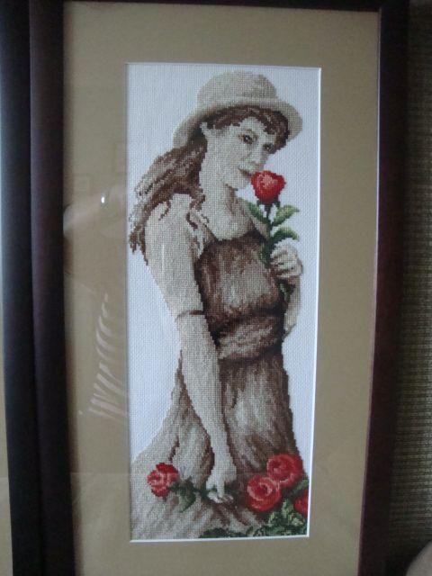 Dziewczyna z różami