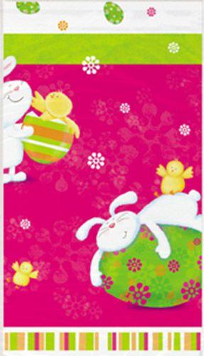 Tovaglia in plastica coniglio e uova pasquali su VegaooParty, negozio di articoli per feste. Scopri il maggior catalogo di addobbi e decorazioni per feste del web,  sempre al miglior prezzo!