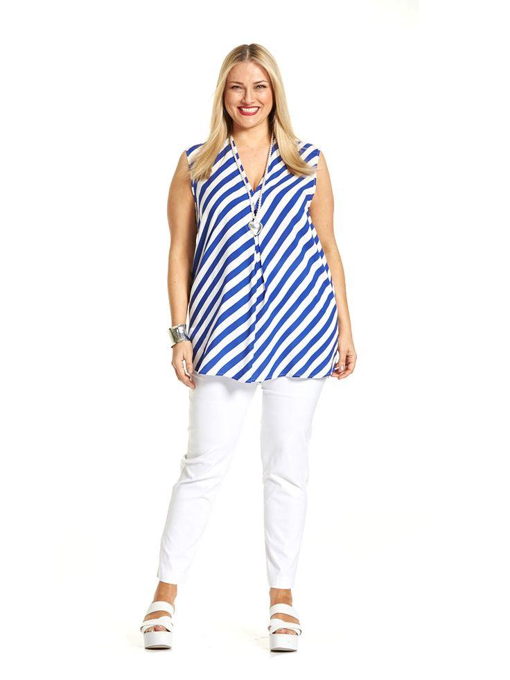 Blue Lagoon Striped Shirt
