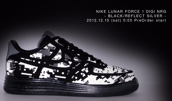 【楽天市場】※NIKE LUNAR FORCE 1 DIGI NRG【ナイキ ルナ フォース1 デジ NRG】BLACK/REFLECT SILVER【12HO-S】 【2012新作】2010:atmos-tokyo