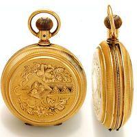 15 Jewel 18 VELIKOST 14 K Rose Gold Hunter PŘÍPAD ELGIN kapesní hodinky CA1908