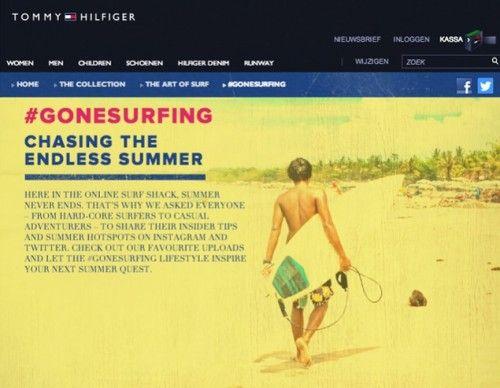Tommy Hilfiger, la campagna surf in un hashtag