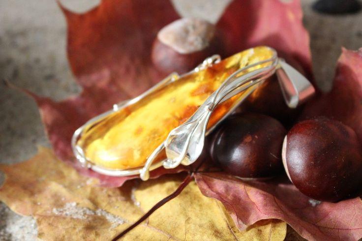 Handmade Baltic Amber Pendant by MagsAmber on Etsy