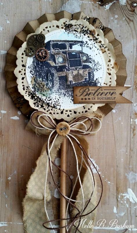 Old Truck Lollipop Card - Mette Buskum - Stempelglede :: Design Team Blog