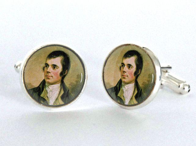 Robert Burns Night Gift Silver Plated Cufflinks £12.50