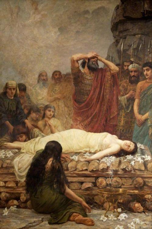 Jephthah's Vow; The Martyr - Edwin Longsden Long, 1885