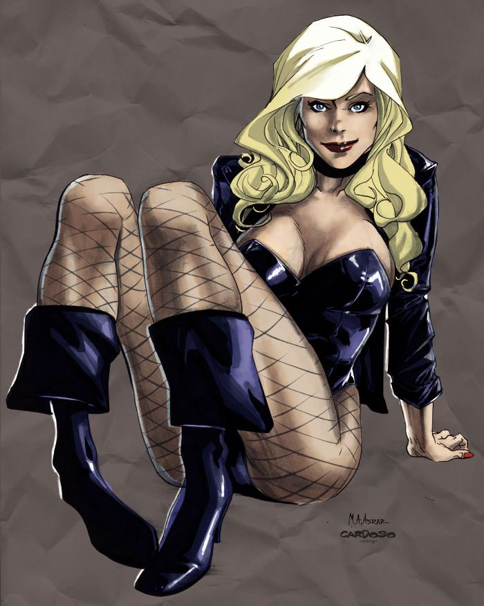 Black Canary  Note: thick, wavy hair with bangs