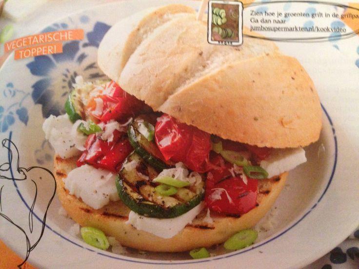 BBQ recept - groenteburger