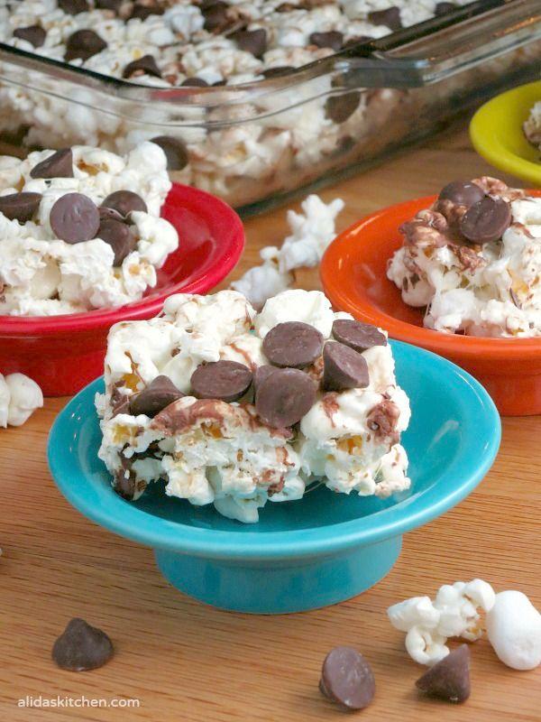 Marshmallow Popcorn Bars   alidaskitchen.com