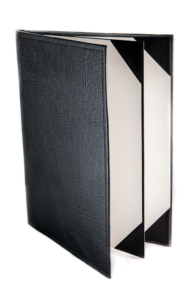 """Menu Covers Made In Italian Faux Leather (12-Pack) - 8.5"""" X 11"""" - 4 Views - 4 Colors - Adrasant"""