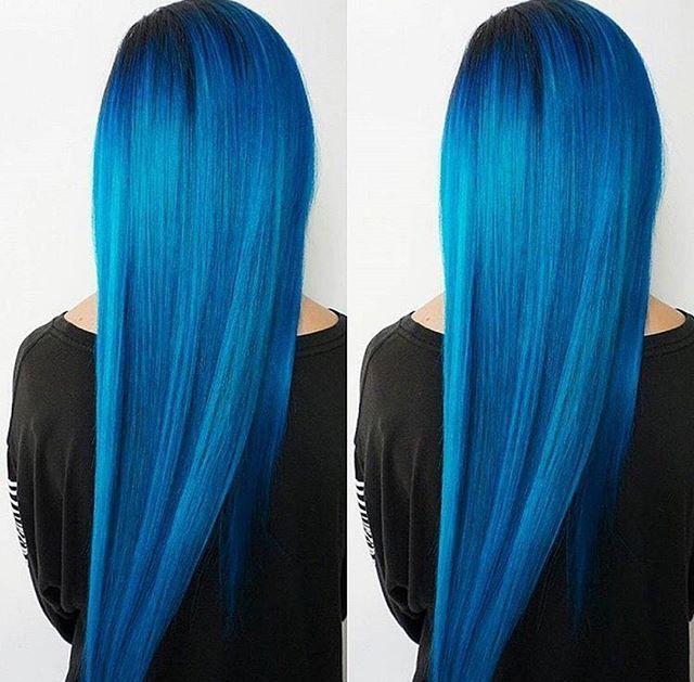 Blue mermaid hair perfection by @hairstylist_yvonne! Created using Arctic Fox in Poseidon + Aquamarine Shop now>> www.beserk.com.au/arctic-fox