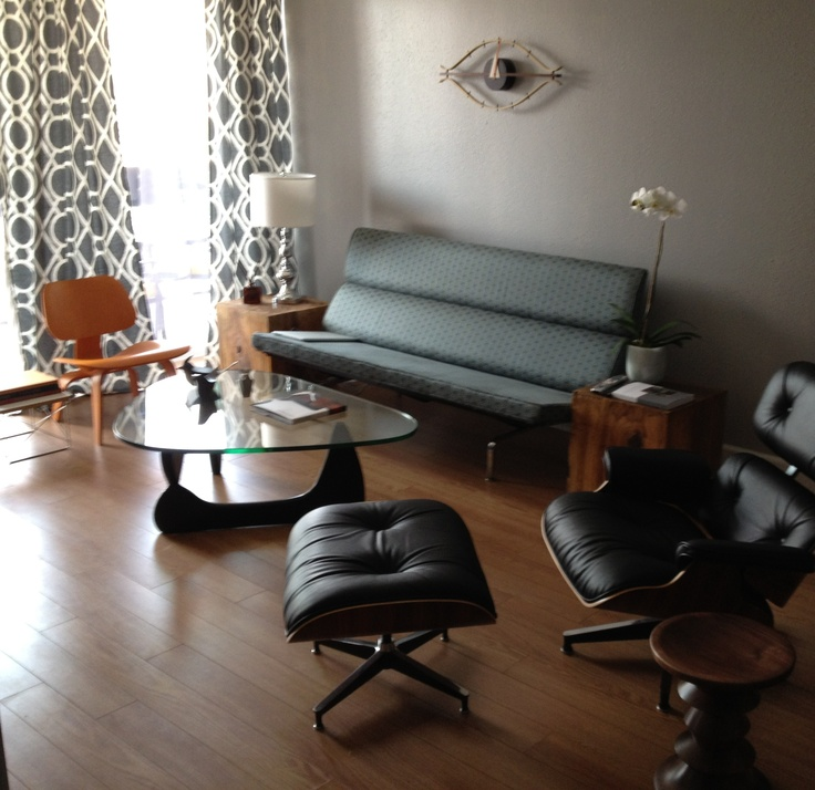 Eames Sofa Compact Orange Lcw Lounge Chair Noguchi Table