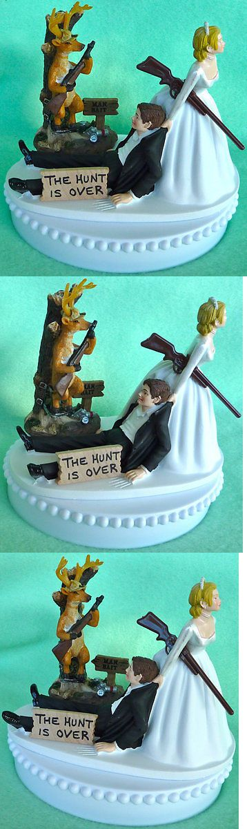 Wedding Cakes Toppers: Wedding Cake Topper Hunt Is Over Themed Deer Hunting Man Bait Hunter Beer Funny BUY IT NOW ONLY: $64.99