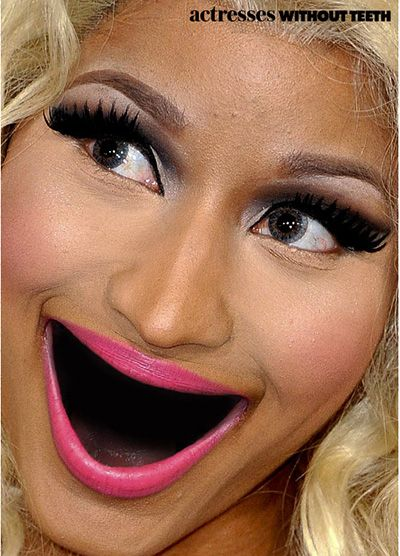 (creepy) nicki minaj without teeth