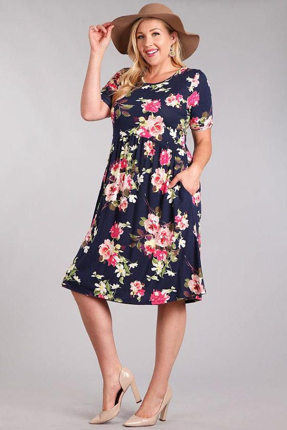 9a55035ea5c5 Floral Dress with Pockets S-3X Women's clothing   Style Inspiration ...