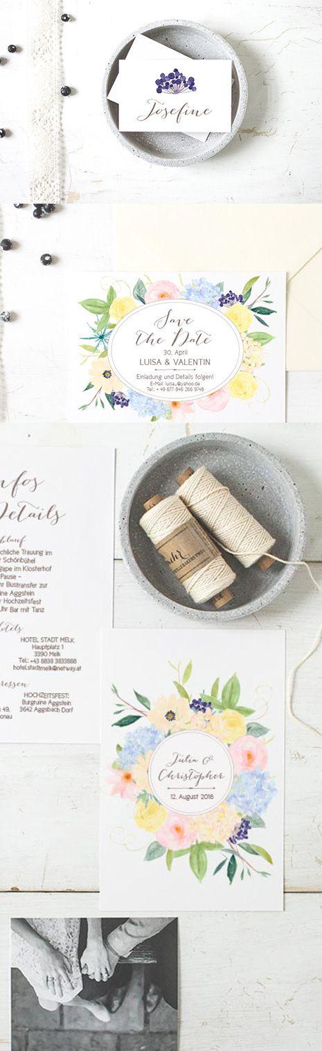 #vorlagen #selbst #editieren #gestalten #printables #Hochzeitseinladungen #blumen #hochzeit #romantic #romantisch #wasserfarbe #rosa #rosé #wedding stationery #weddinginvitation, online bestellbar bei www.papierhimmel.com
