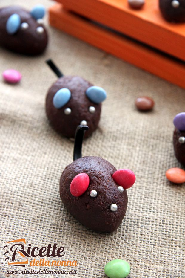 Mouse Halloween Cookies - Topini di cioccolato di Halloween