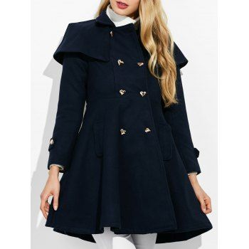 SHARE & Get it FREE | Double Breasted Ruffle A Line CoatFor Fashion Lovers only:80,000+ Items·FREE SHIPPING Join Dresslily: Get YOUR $50 NOW!