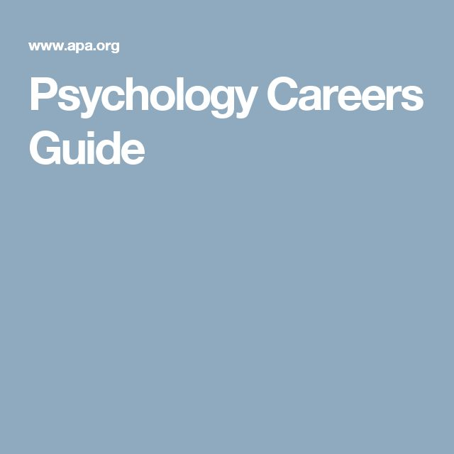 Psychology Careers Guide