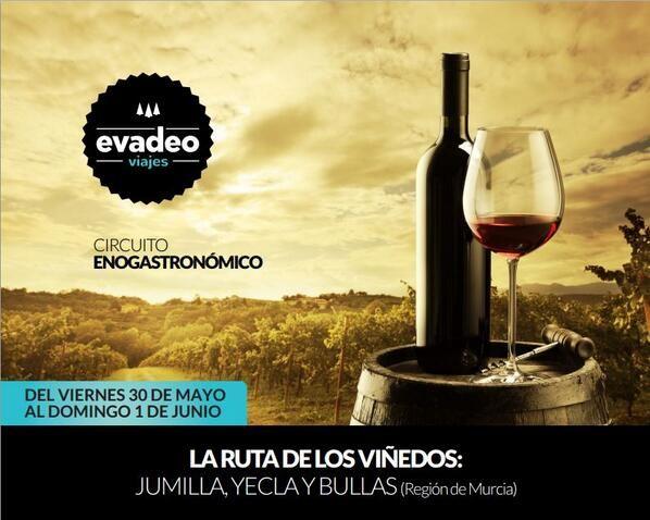 Del 30 de Mayo al 1 de Junio nos vamos a descubrir 3 Rutas del Vino: Jumilla, Yecla y Bullas. Reserva tu plaza! #enoturismo #rutadelvino