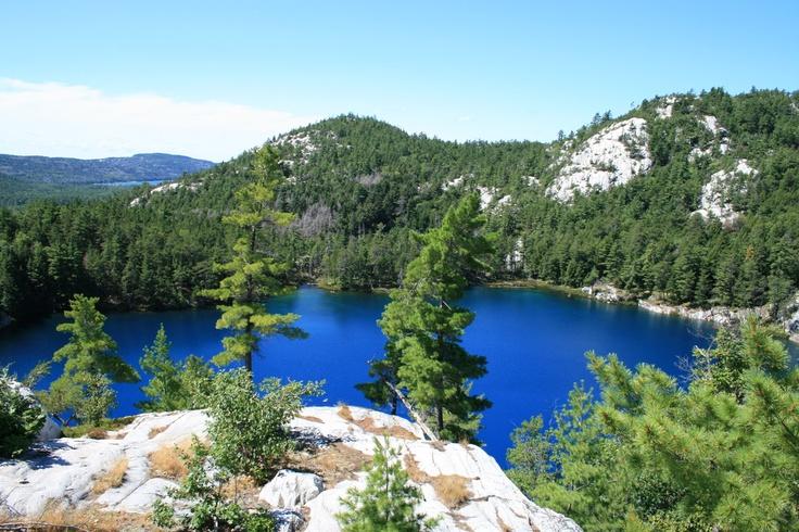 This is an amazing lake. Topaz Lake, Kilarney, Ontario