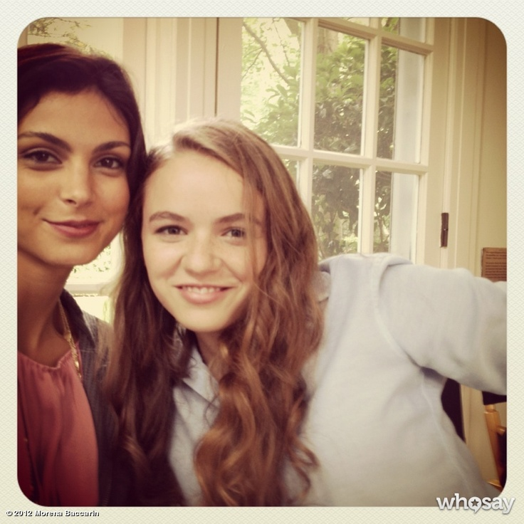 Morena Baccarin and Morgan Saylor (Mother Jessica and Daughter Dana Brody) on the set of Homeland.