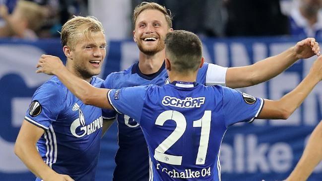 Wahnsinn auf Schalke: Blau-weißer Jubel nach dem 2:0!