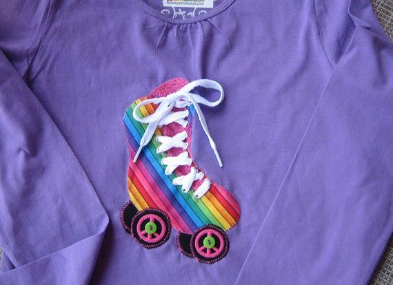 Roller Skate Shirt for your Hippy Chick by thesassyseamstress