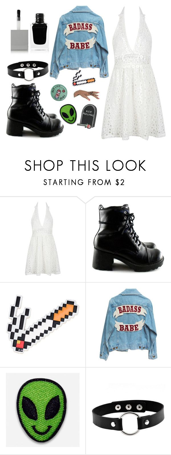"""rocker"" by lisalue00 on Polyvore featuring Mode, WithChic, Anya Hindmarch, Hipstapatch und Givenchy"