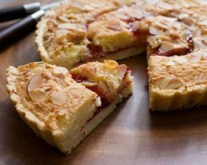 Crisp pastry, raspberry jam and a dense almond topping create a real family favourite in this classic Bakewell tart from Tamasin Day-Lewis