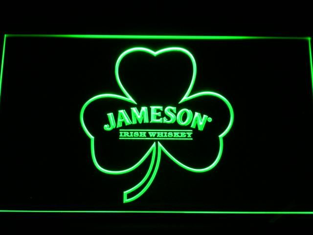a215 Jameson Whiskey Shamrock LED Neon Sign with On/Off