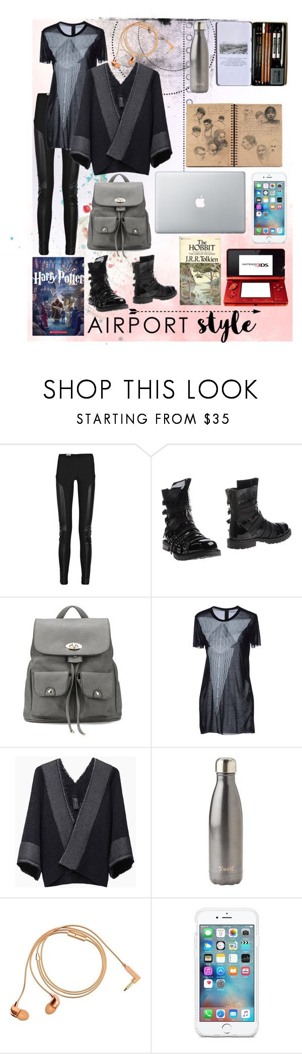 """""""Comfort is Key"""" by samanthabishop-i ❤ liked on Polyvore featuring Acne Studios, Gareth Pugh, Zero + Maria Cornejo, Nintendo, Vision, S'well, Happy Plugs and airportstyle"""