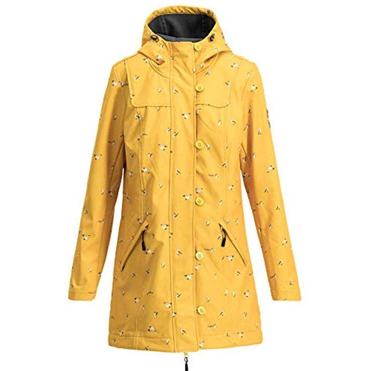 Blutsgeschwister Damen Softshell Parka wild Weather Long Anorak mit Kapuze Jacke…