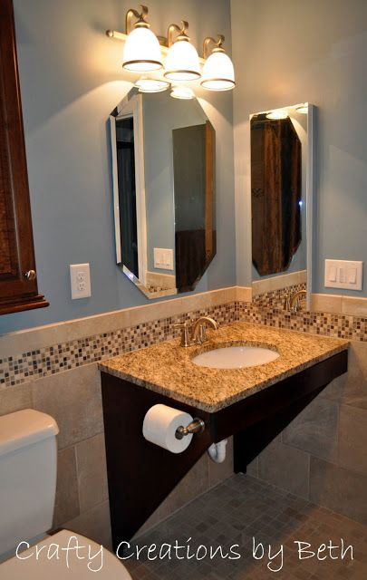 Wheelchair Accessible Bathroom Sinks David And The Builder Came Up With The Sink Vanity Design