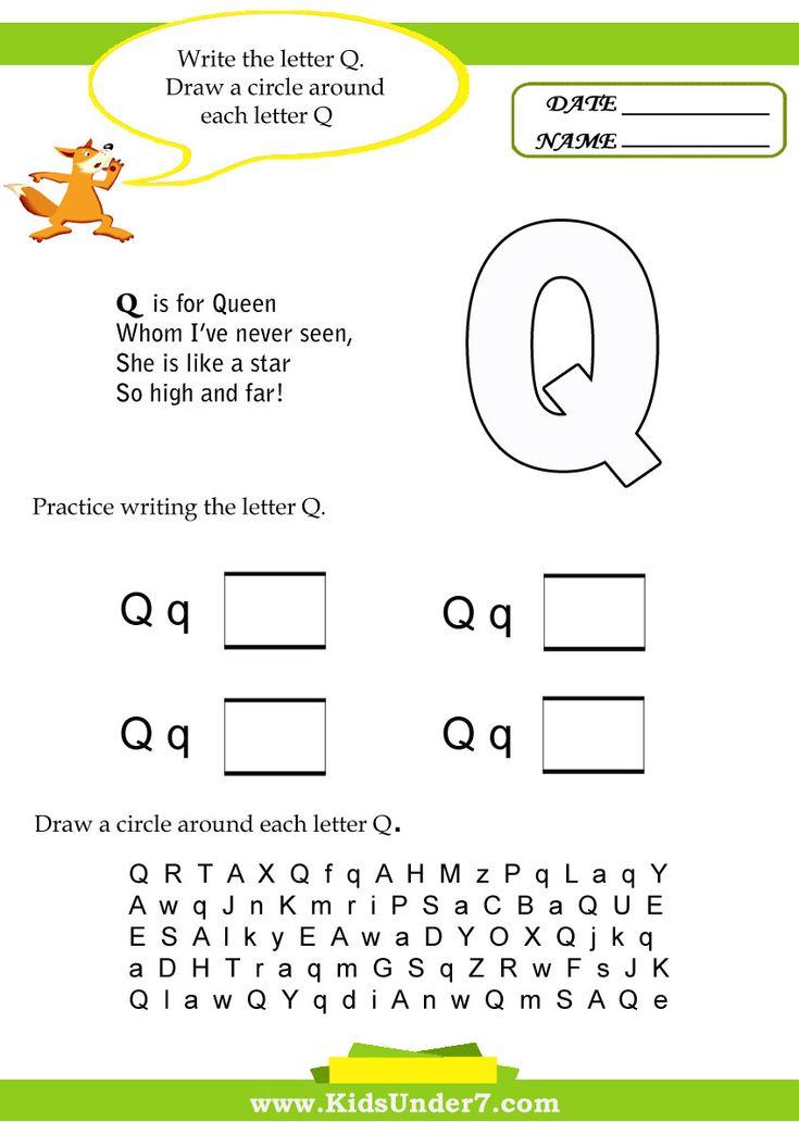 Letter Q Worksheet Letter Q Worksheets Kindergarten Worksheets Letter Worksheets For Preschool Kindergarten worksheets letter q
