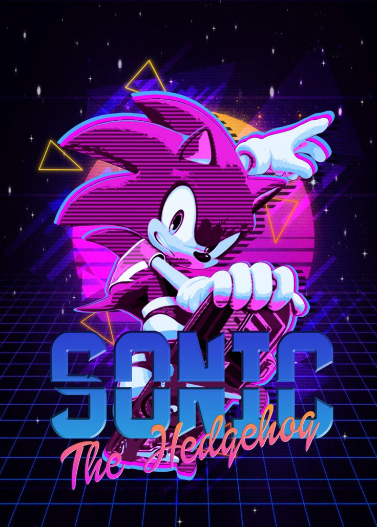 'sonic' Metal Poster Print The Master Displate in 2020