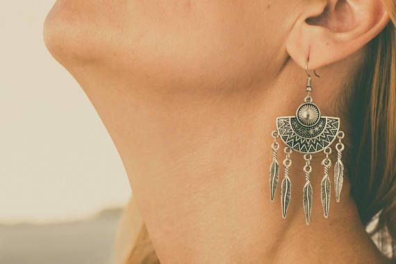 Check out this item in my Etsy shop https://www.etsy.com/listing/564893855/earrings-antique-tibetan-silver