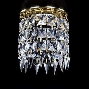ArtGlass crystal Spot lights decorated with crystal stones of various shapes and designs #CrystalSpotLights #ModernLighting
