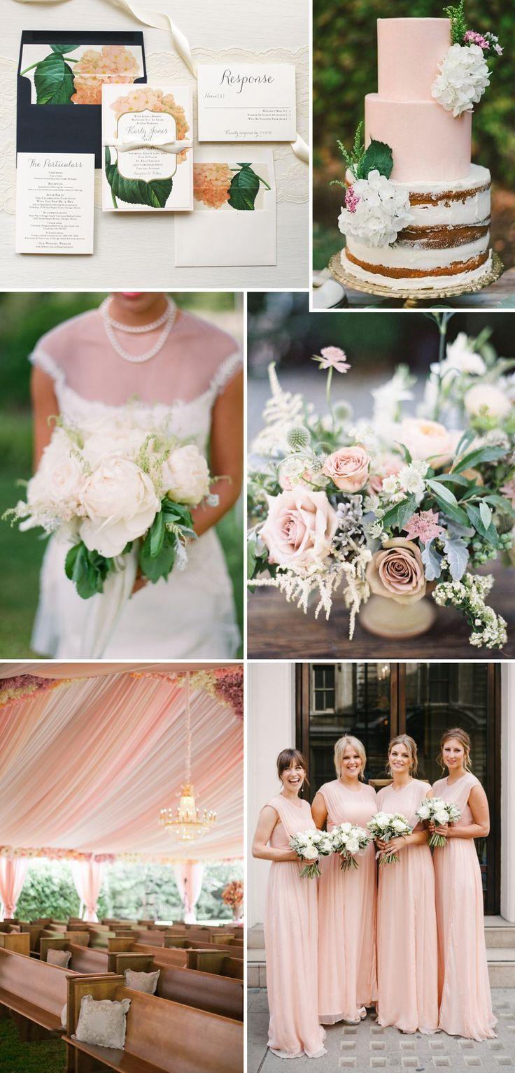 Navy Blue Hydrangea Wedding Invitations