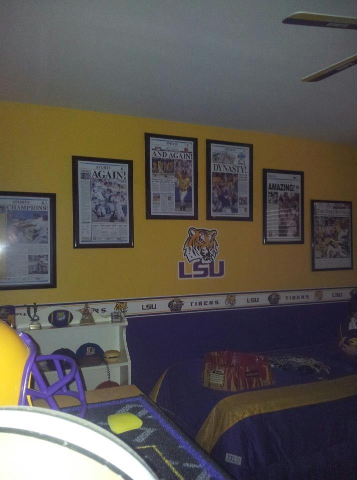 Lsu Man Cave Decor : Best images about boys room on pinterest