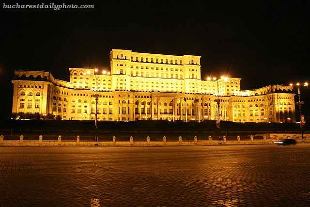 Palace of Parliament at night » Bucharest , Romania