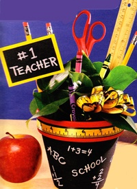 Craft ideas - Teacher Pot - pottery, pots and terra cotta