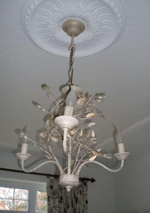 Beautiful Laura Ashley 3 light chandelier (cost £95). Antique cream u0026 gold & 12 best Preston lighting By Laura Ashley images on Pinterest ... azcodes.com