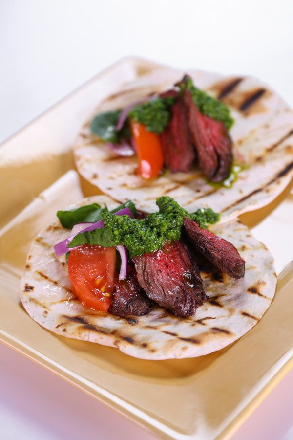 Lomonaco's Skirt Steak Tortilla with Chimichurri Sauce   Recipe ...