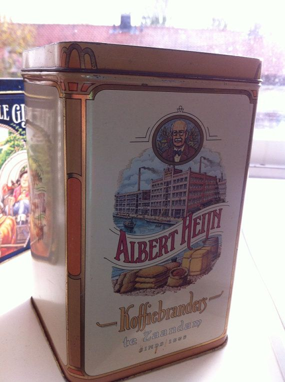 Vintage Albert Heijn Dutch Coffie Canister by DewGrace on Etsy, €10.00