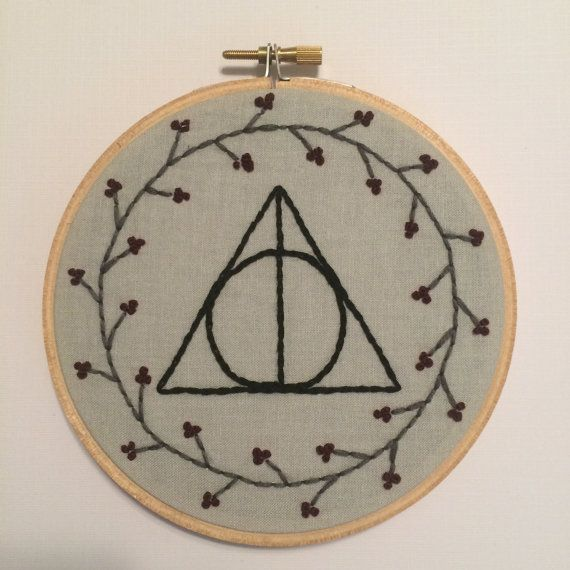 Harry Potter Deathly Hallows broderie cerceau Art Wall Decor