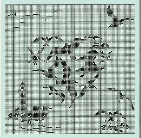 Филейное вязание шторы схема