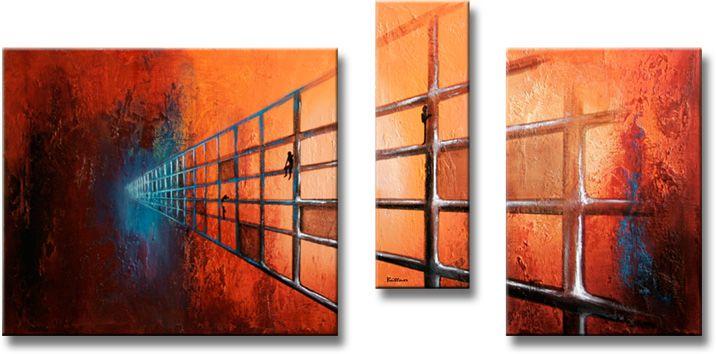 Moderne schilderijen - Moderne schilderij volwassen kamer ...