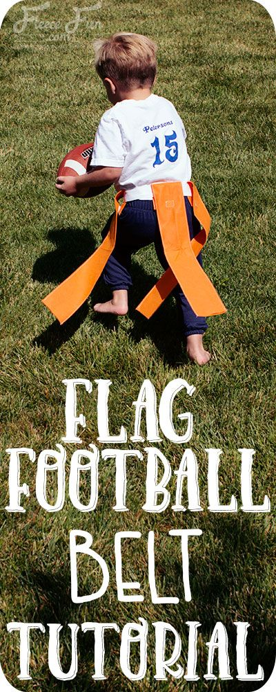 I love this easy to follow flag football flag and belt tutorial. It's really simple to make and perfect for getting kids outside running around. Such a great sewing DIY idea for sports. How to make flag football flags diy